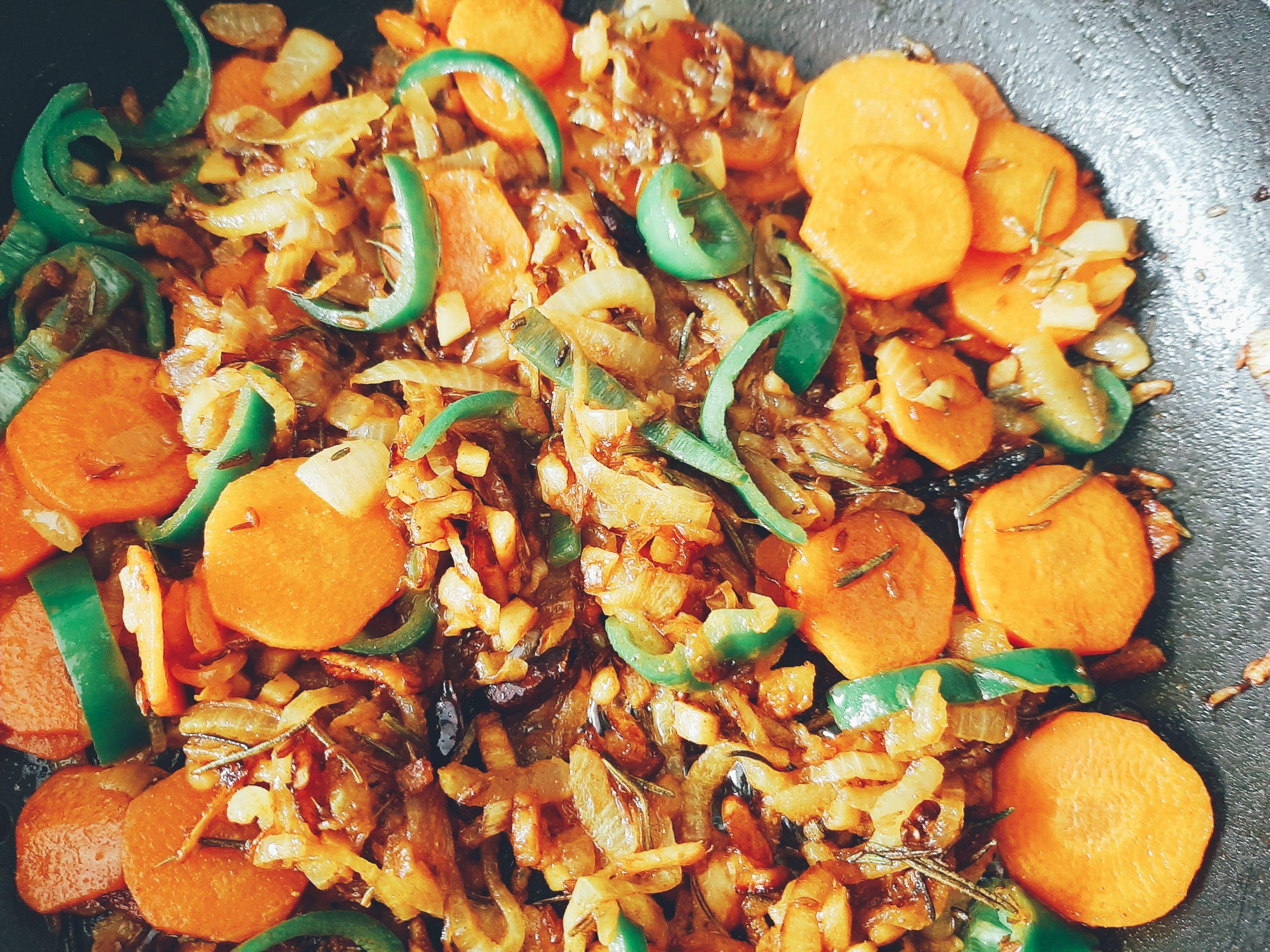 keptos morkos ir paprikos