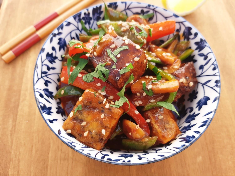 Taivanietiškas traškus tofu